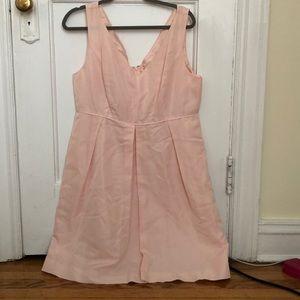 J.Crew Pink V-Neckline Dress